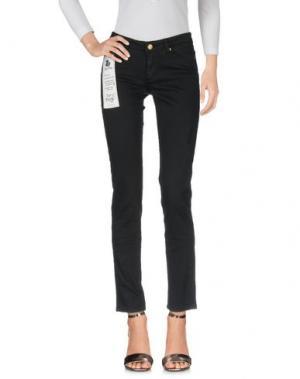 Джинсовые брюки DUCK FARM. Цвет: черный