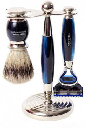 Кисть для бритья Станок с лезвием Fusion Голубой опал Truefitt&Hill. Цвет: бесцветный