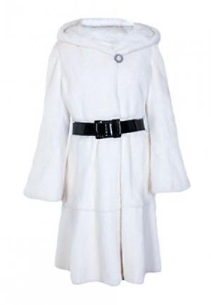 Пальто меховое норка MALA MATI. Цвет: белый