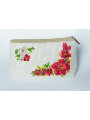 Набор для шитья и вышивания косметички Пора цветения Матренин Посад. Цвет: красный,белый,серый