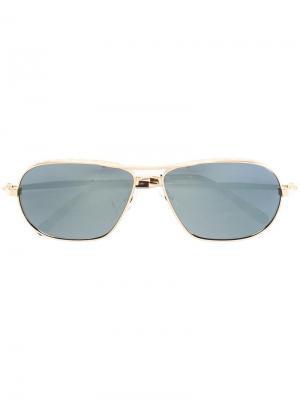 Солнцезащитные очки в овальной оправе Matsuda. Цвет: металлический