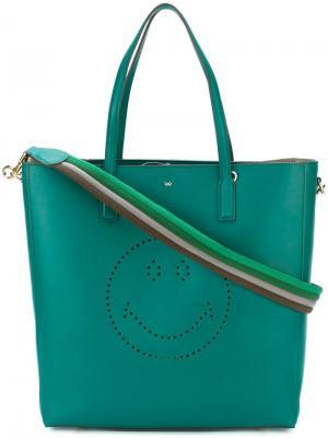 Большая сумка-тоут Ebury Anya Hindmarch. Цвет: зелёный