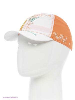 Бейсболка Maxval. Цвет: белый, оранжевый