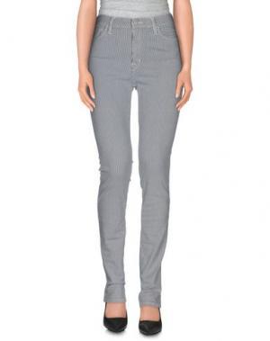 Повседневные брюки EDWIN. Цвет: слоновая кость