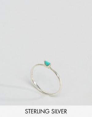 Kingsley Ryan Серебряное кольцо с бирюзой. Цвет: серебряный