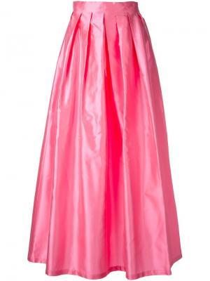 Длинная юбка с блестящим эффектом Ultràchic. Цвет: розовый и фиолетовый