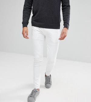 Noak Облегающие брюки из эластичного хлопкового материала. Цвет: белый