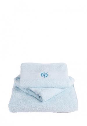 Комплект полотенец 3 шт. Bellehome. Цвет: голубой