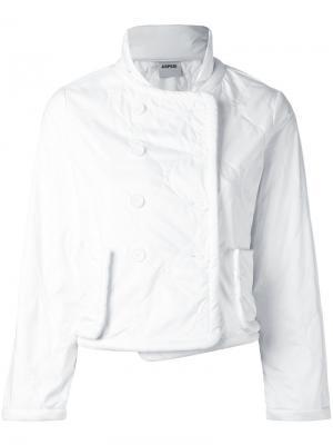 Приталенная куртка Aspesi. Цвет: белый