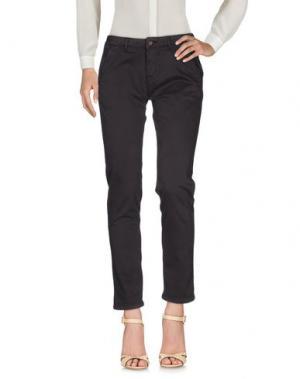 Повседневные брюки REIKO. Цвет: темно-коричневый