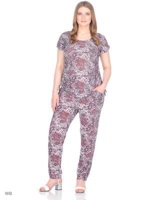 Комплект брюки+блузка, модель Лоис Dorothy's Home. Цвет: красный