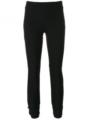 Укороченные брюки  с простроченной отделкой Dorothee Schumacher. Цвет: чёрный