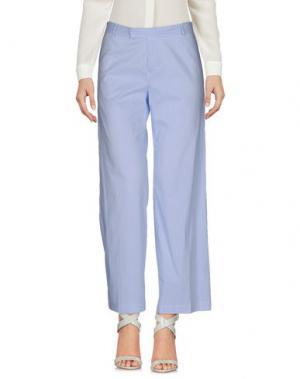 Повседневные брюки PF PAOLA FRANI. Цвет: небесно-голубой