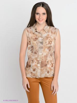 Блузка SUGARLIFE. Цвет: коричневый