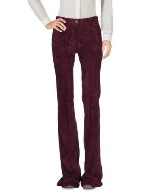 Повседневные брюки JITROIS. Цвет: баклажанный