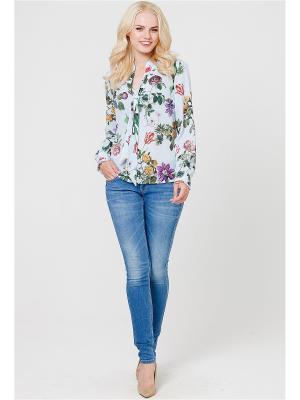Блузка MARY MEA. Цвет: светло-голубой