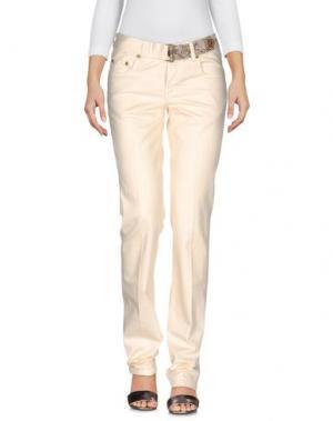 Джинсовые брюки SEVEN7. Цвет: бежевый