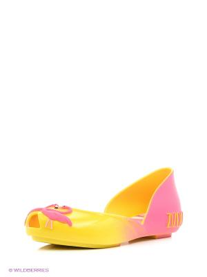 Балетки ZAXY. Цвет: желтый, розовый