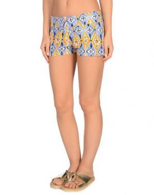Пляжные брюки и шорты MOSAIQUE. Цвет: синий