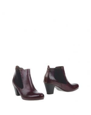 Полусапоги и высокие ботинки LILIMILL. Цвет: баклажанный