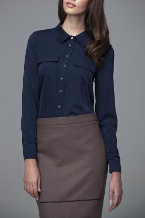 Рубашка MISEBLA. Цвет: синий