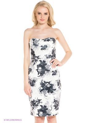 Платье Befree. Цвет: белый, серый