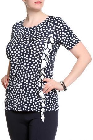 Блуза ROSANNA PELLEGRINI. Цвет: черный, белый горох