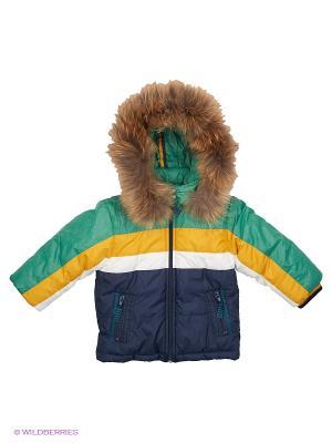 Куртка Wojcik. Цвет: зеленый, желтый, белый, темно-синий