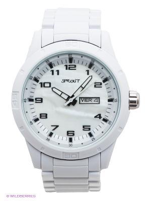 Часы Sprout. Цвет: белый