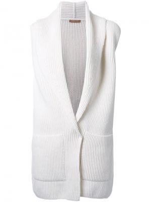 Вязаный кардиган Nehera. Цвет: белый