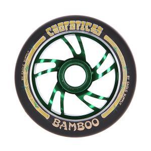 Колесо для самоката  Bamboo Wheel 110mm Black Chopsticks. Цвет: черный,зеленый