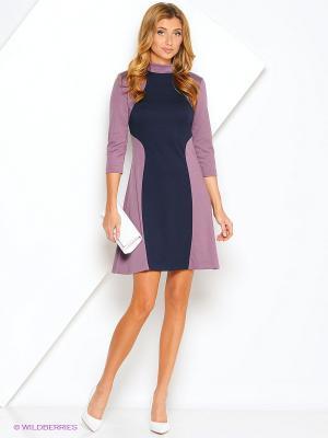 Платье МадаМ Т. Цвет: сиреневый, синий