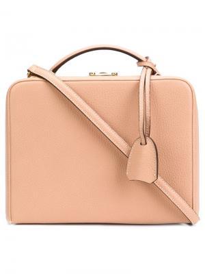 Маленькая сумка через плечо Mark Cross. Цвет: телесный