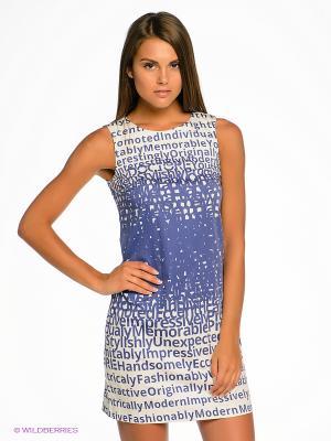 Платье DOCTOR E. Цвет: синий, белый
