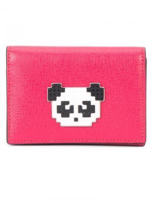 Визитница Panda Les Petits Joueurs. Цвет: розовый и фиолетовый