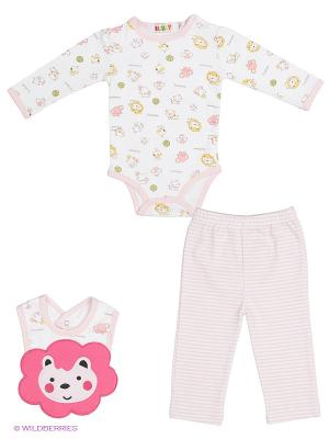 Комплект одежды Kidly. Цвет: розовый, белый