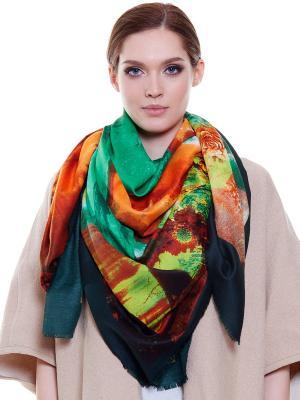 Платок Ribello. Цвет: зеленый, оранжевый