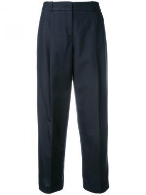 Укороченные костюмные брюки Jil Sander Navy. Цвет: синий