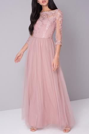 Платье CHI LONDON. Цвет: pink
