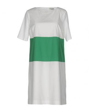 Короткое платье CAPPELLINI by PESERICO. Цвет: белый