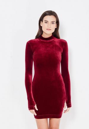 Платье MiraSezar. Цвет: бордовый