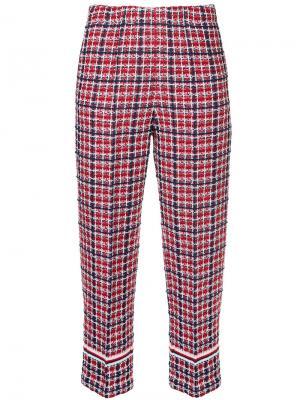 Твидовые брюки COOHEM. Цвет: красный