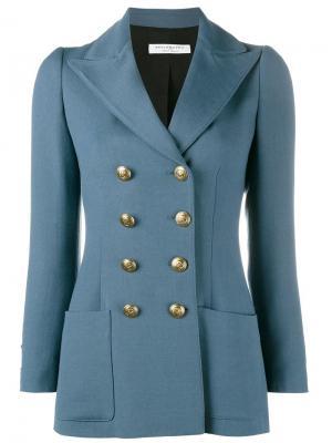 Двубортный пиджак Philosophy Di Lorenzo Serafini. Цвет: синий