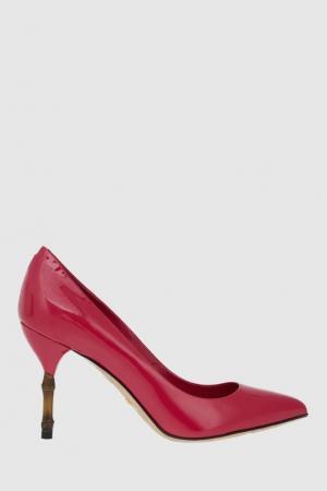 Кожаные туфли Gucci. Цвет: фуксия