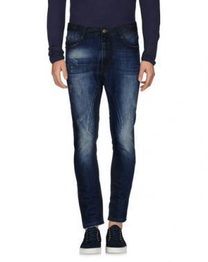 Джинсовые брюки BONAVITA. Цвет: синий