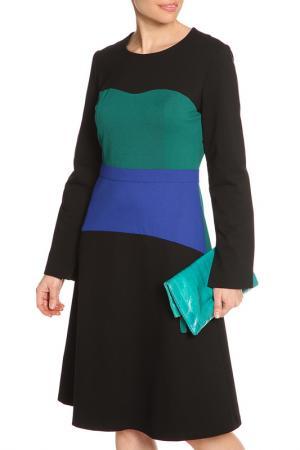 Платье миди NATALIA PICARIELLO. Цвет: черный