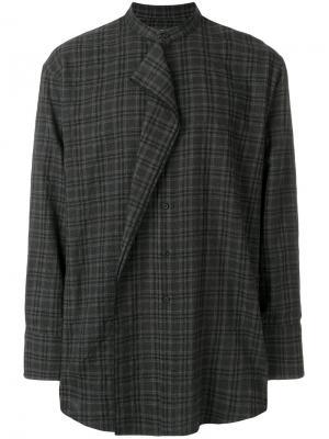 Рубашка с воротником-мандарин Wooyoungmi. Цвет: серый