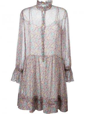 Платье с цветочным принтом Philosophy Di Lorenzo Serafini. Цвет: красный