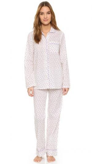 Пижама Jamie Three J NYC. Цвет: красные сердечки/фиолетовая окантовка