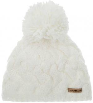 Вязаная шапка с подкладкой CANADIAN. Цвет: молочный